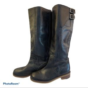 Lucky Brand Andria Dark Grey TALL leather Boots